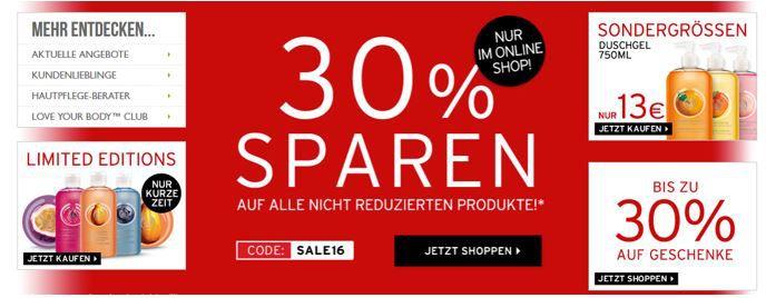 The Body Shop Gutschein The Body Shop: SALE bis 50% oder 30% Extra Rabatt   Top!