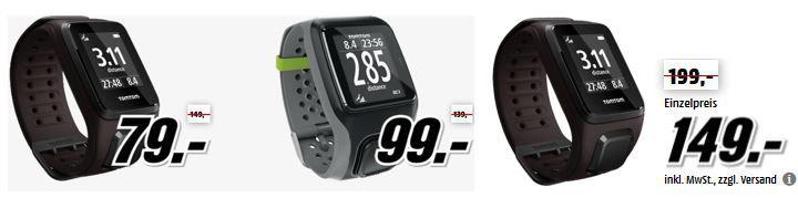 TomTom Gps Uhren TOMTOM Spark Cardio GPS Sportuhr für 79€ in der Media Markt TomTom Tiefpreisspätschicht