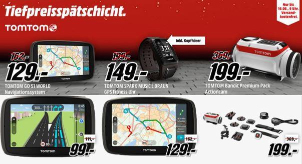 TomTom Gutschein TOMTOM Spark Cardio GPS Sportuhr für 79€ in der Media Markt TomTom Tiefpreisspätschicht