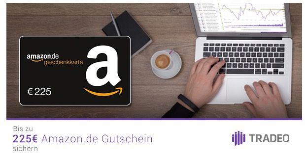 Bis zu 225€ Amazon.de Gutschein* für Tradeo Social Trading   Abgelaufen!