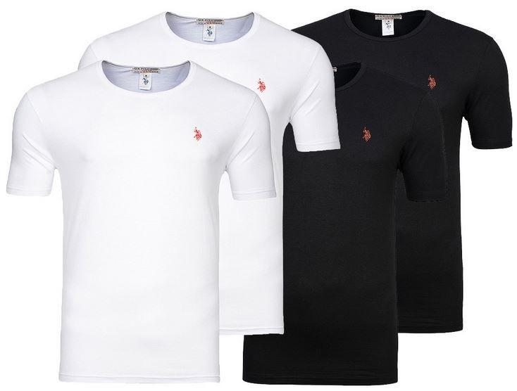 U.S. POLO ASSN. UW300   Rundhals Herren T Shirt im 2er Pack für 15,99€