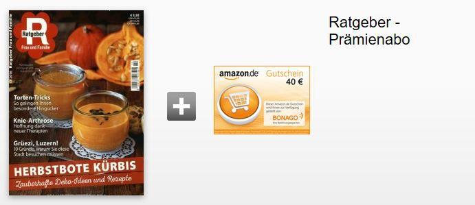 Unbenannt3 Ratgeber Jahresabo   dank 40€ Amazon Gutschein für effektiv nur 6,80€