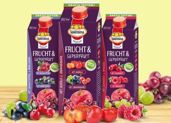 Valensina Frucht & Superfrucht kostenlos testen dank Geld zurück Garantie
