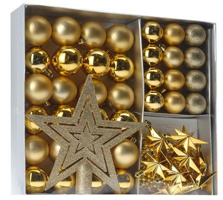 Weihnachtskugeln Home&Style Weihnachtskugeln 45 teilig + Baumspitze für 2,58€   Plus Produkt