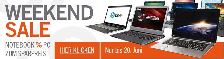 Notebook Angebote bei den Cyberport Weekend Sale, z.B. Asus Pro für 555€