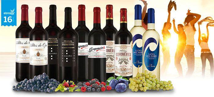 ebrosia 16 Jahre Ebrosia: 10 Flaschen Wein aus versch. Ländern für 39,90€