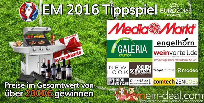 Großes Mein Deal.com EM 2016 Gewinnspiel mit Preisen im Wert von über 2.000€
