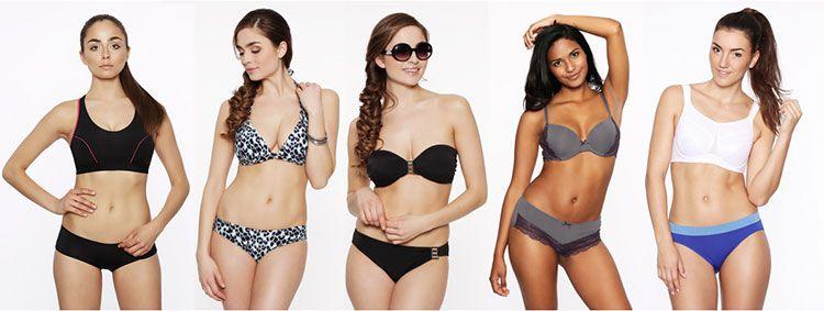 3 BHs (oder Bikinioberteile) + 6 Slips (oder Bikinihosen) für insgesamt 49,90€ inkl. Versand