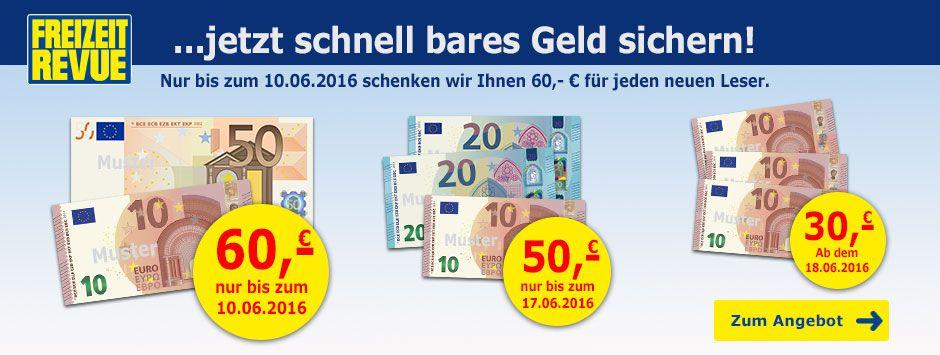 freizeit revue cd aktion mai 2016 Jahresabo Freizeit Revue für effektiv 38,80€ dank 60€ Bargeldprämie