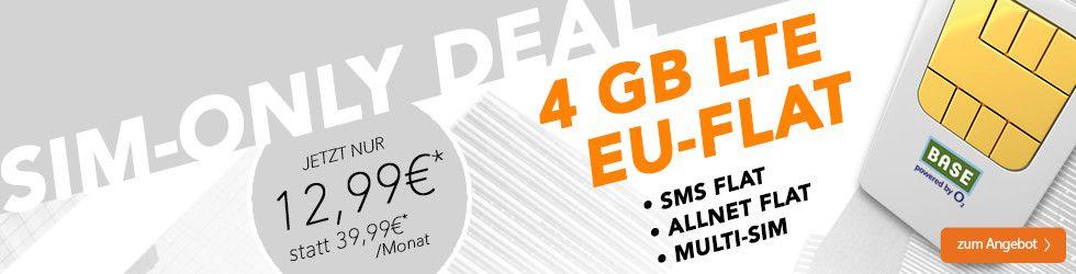 Wieder da! BASE All in L Tarif mit 4GB LTE für 12,99€mtl.