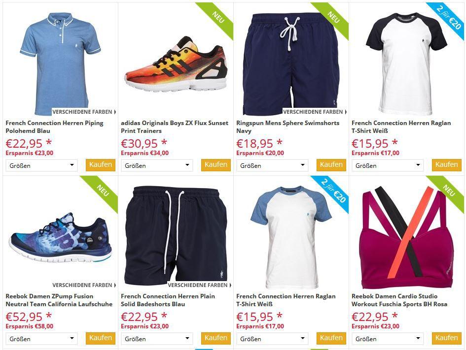 mandmdirect mandmdirect mit mega Sommer Sale   1.400 Artikel mit bis zu 75% Rabatt   Adidas & Co.