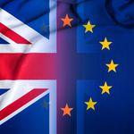 """Der berühmte """"Union Jack"""", der in die europäische Flagge übergeht Title-Tag: Brexit"""