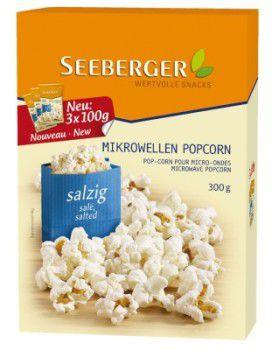 3er Pack Seeberger Mikrowellen Popcorn Salzig für nur 5,20€ (statt 11,12€)