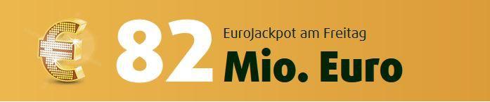 82 Millionen Jackpot Lottoland: 3 Tippfelder Eurojackpot (82 Mio. Jackpot!) + 15 Rubellose für 0,99€ für alle Neukunden