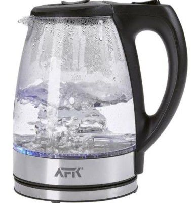 AFK Glas Wasserkocher 2200W e1475307242496 AFK GWK2200.1C   1,7l LED Glas Wasserkocher für 15€ (statt 19€)