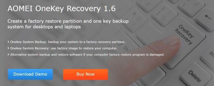 AOMEI OneKey Recovery Pro 1.6 kostenlos