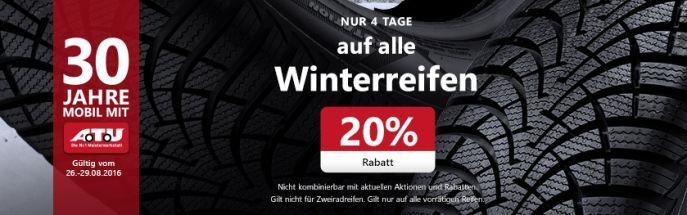 Atu 20% Rabatt auf Winterreifen bei ATU