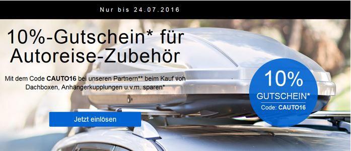 Autoreise Zubehör mit 10% Extra Rabatt bei eBay   Fahrradträger, Gepäckboxen uvm.