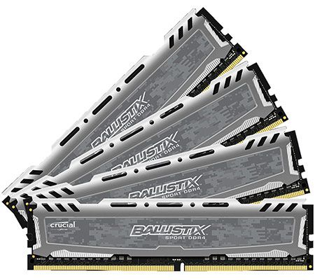 16GB CRUCIAL BLS4C4G4D240FSB Arbeitsspeicher DDR4  DIMM für 55€ (statt 77€)