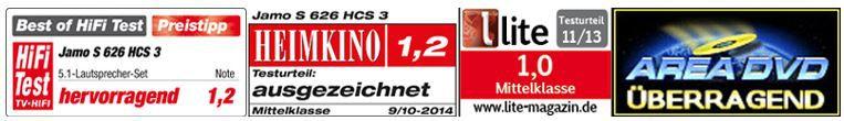 Best of HiFi Jamo S 626 HCS 3 Heimkinosystem + Subwoofer für 649€ (statt 784€)