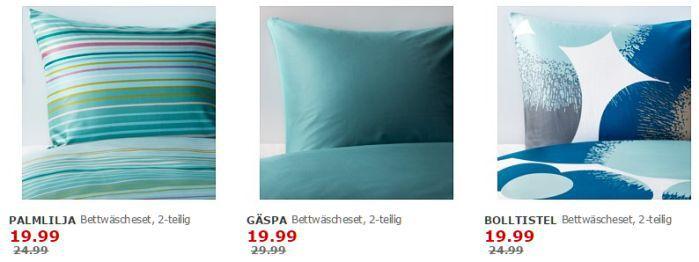 Bettwäsche IKEA: Knapp 60 Bettwäschen um bis zu 50% reduziert