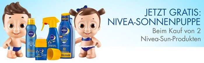 Nun für alle: gratis Nivea Sonnenpuppe (Wert 20€) beim Kauf von 2 Nivea Sun Produkten