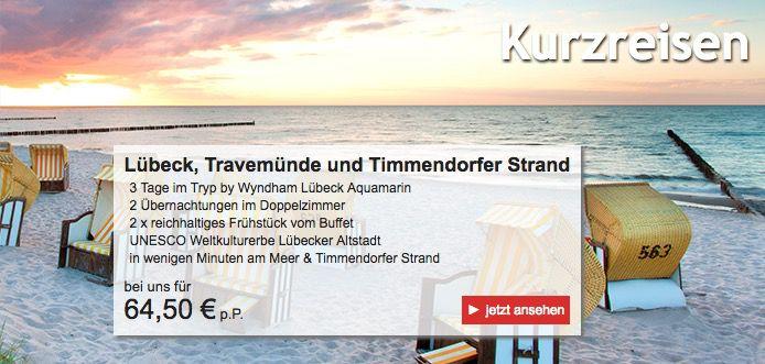 20€ Kurzurlaub.de Gutschein ohne MBW   z.B. 2 ÜN + Frühstück in Lübeck ab 39,50€ p.P.