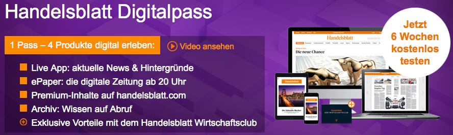 Bildschirmfoto 2016 07 05 um 16.15.01 6 Wochen Handelsblatt Digitalpass gratis lesen