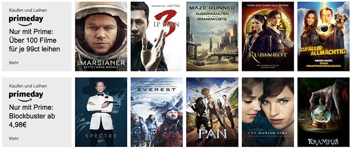 Über 100 Filme in HD für je 0,99€leihen   nur Prime Mitglieder!