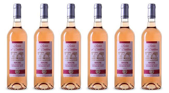 6 Flaschen Baron dEmblème Grenache Rosé für 22,89€