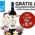 Gratis Rioja Wein + VSK-frei mit 5€ MBW – nur für die ersten 1.000 Bestellungen!