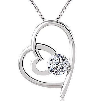 J.Rosée Damen Halskette mit 2 Herz Anhänger ab 12,99€
