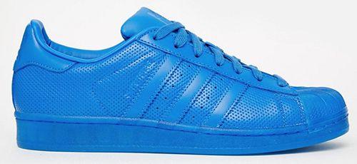 adidas Superstar Adicolor Sneaker in Blau für 40€ (statt 70€)