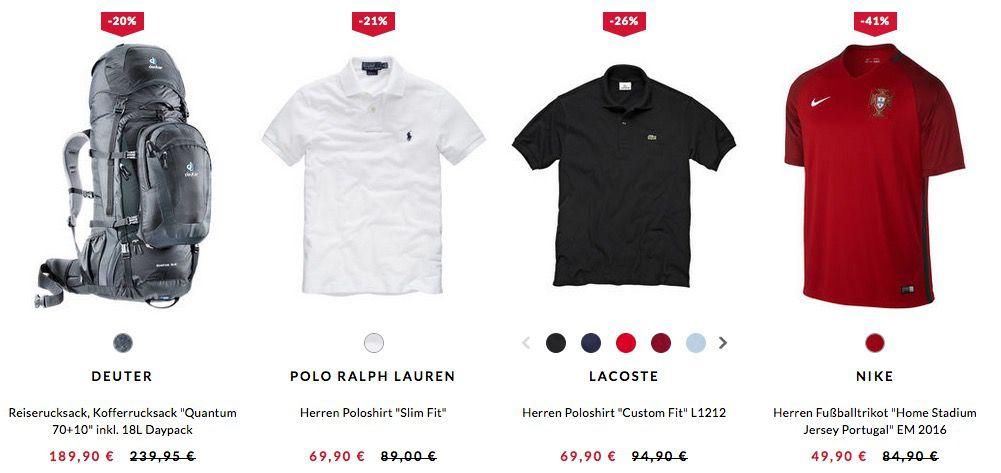 engelhorn Summer Sale mit bis zu 50% Rabatt (günstige Marken Polos, Rucksäcke, ...)