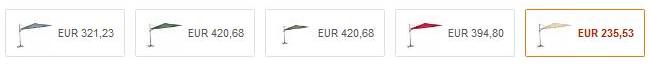 Bildschirmfoto 2016 07 28 um 09.35.45 Preisfehler? Siena Garden Ampelschirm Montego (Ø 350cm) für 235€ (statt 408€)