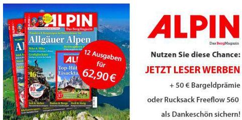 """Bildschirmfoto 2016 07 28 um 18.48.14 Jahresabo (12 Ausgaben) der Zeitschrift """"Alpin"""" für effektiv 12,90€ statt 62€"""