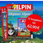 """Jahresabo (12 Ausgaben) der Zeitschrift """"Alpin"""" für effektiv 12,90€ (statt 63€)"""