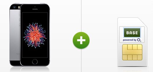 Apple iPhone SE 16GB + o2 Blue All in M + 2GB LTE für 25€ mtl.