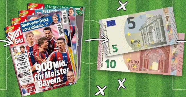 Knaller! 13 Ausgaben Sport Bild für 16,60€ + 15€ Verrechnungsscheck