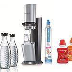 SodaStream Crystal + 3 Glaskaraffen + 60L Zylinder + Sirup für 98€ (statt 108€)
