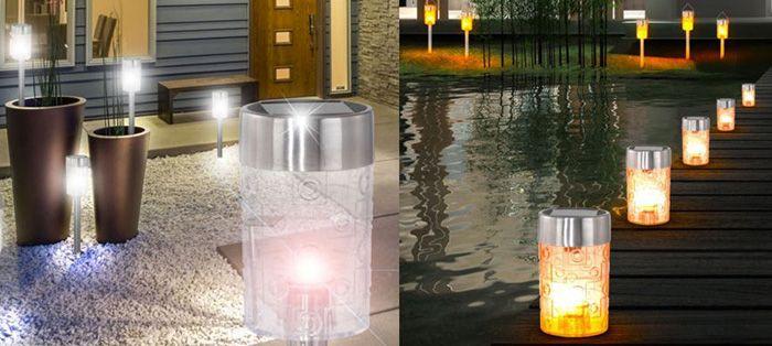 Solar LED Gartenlampen für je 16,90€   2er bis 8er Sets verfügbar