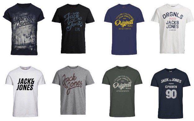 Jack & Jones Herren T Shirts in vielen Motiven für je 10,99€