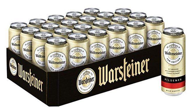 Warsteiner Premium Pilsener im limitiertem Weltmeister Design (24 x 0.5 l) ab 14,16€