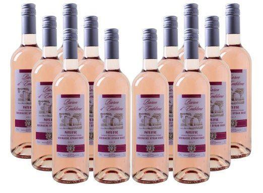 12 Flaschen Baron dEmblème Grenache Rosé für 45€