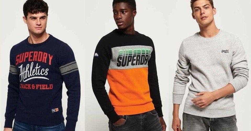 Superdry Herren Sweatshirts für je 27,95€(statt 42€)