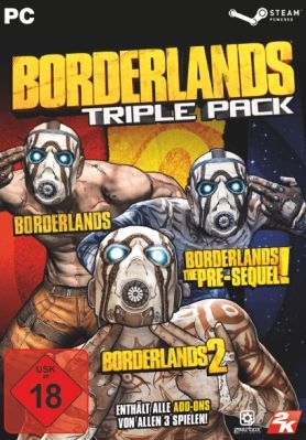 Borderlands Triple Pack Borderlands Triple Pack (Steam Keys) für nur 9,99€ (oder 3x für 19,98€)