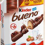 Kinder Bueno gratis testen dank Geld zurück Garantie