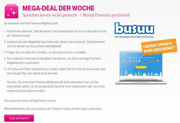 Nur für Telekom Kunden: 1 Monat Busuu Premium kostenlos   Sprachen lernen leicht gemacht (Wert 14,99€)