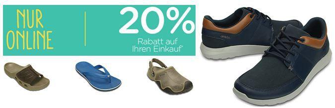 Crocs Rabatt 20 CROCS mit 20% Rabatt im Online Shop