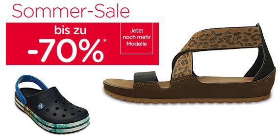 Crocs   Summer Sale mit bis zu 70% Rabatt + 25% Gutschein